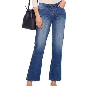 Ulla Johnson Alex Lace Up Denim Jeans NWT